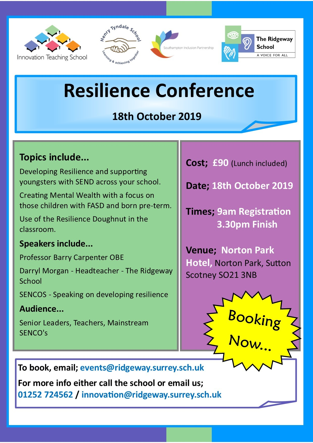 Resilience Conf Oct 19