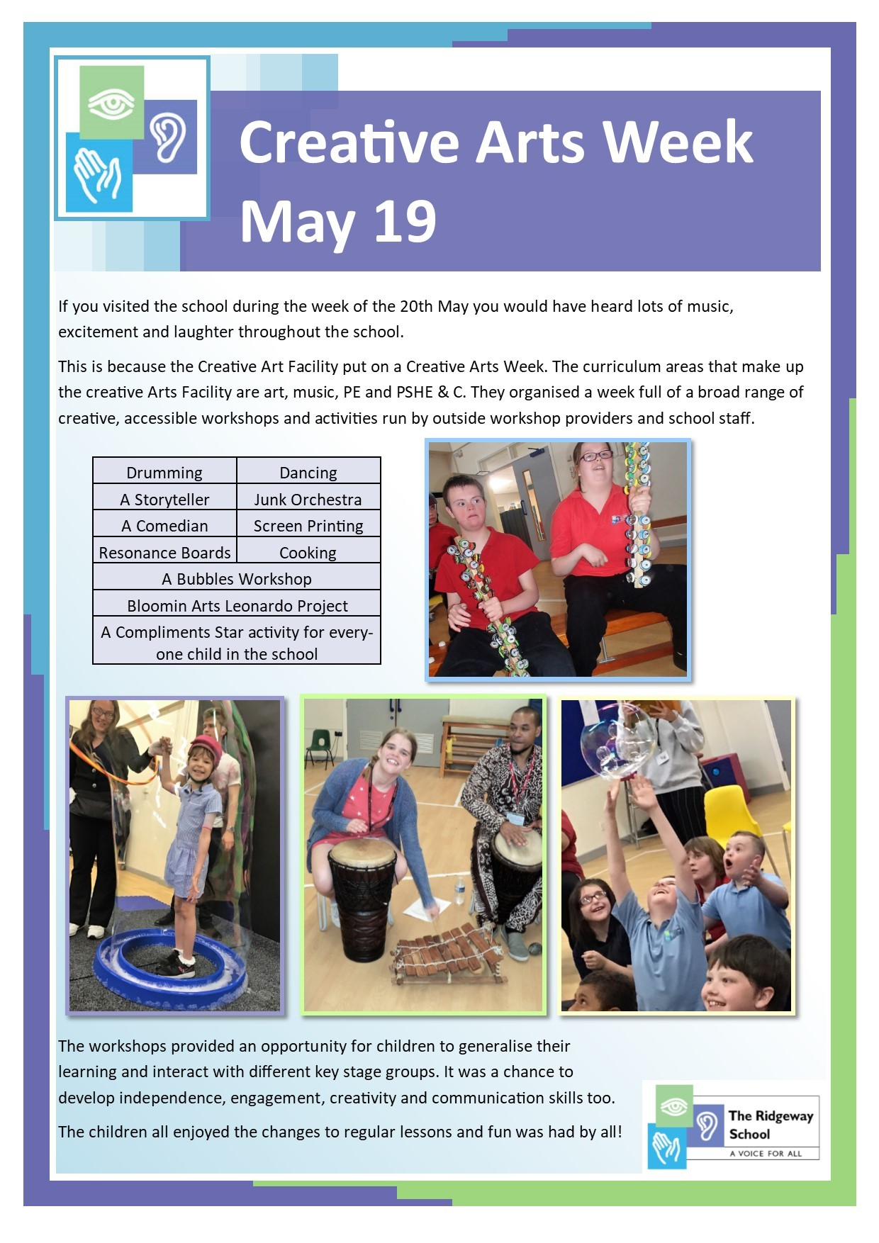 Creative Arts Week - May19