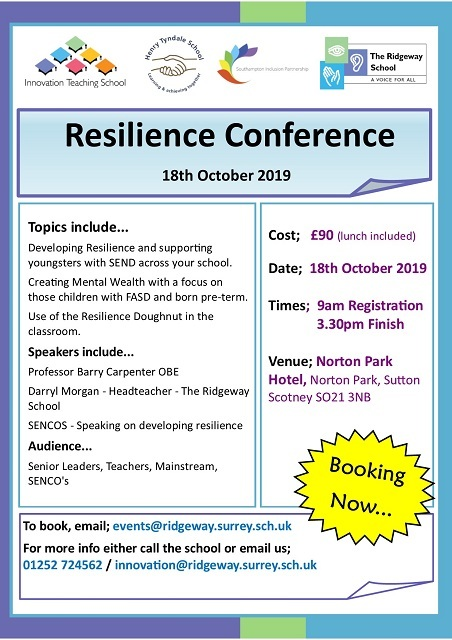 Resilience Conf Oct 19  Leaflet